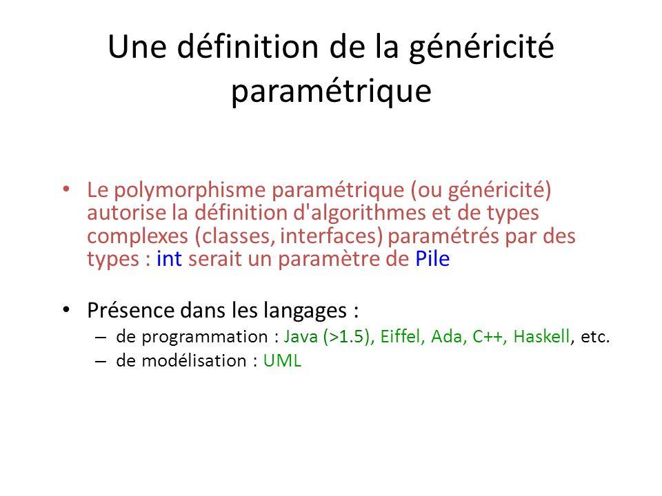 Une définition de la généricité paramétrique