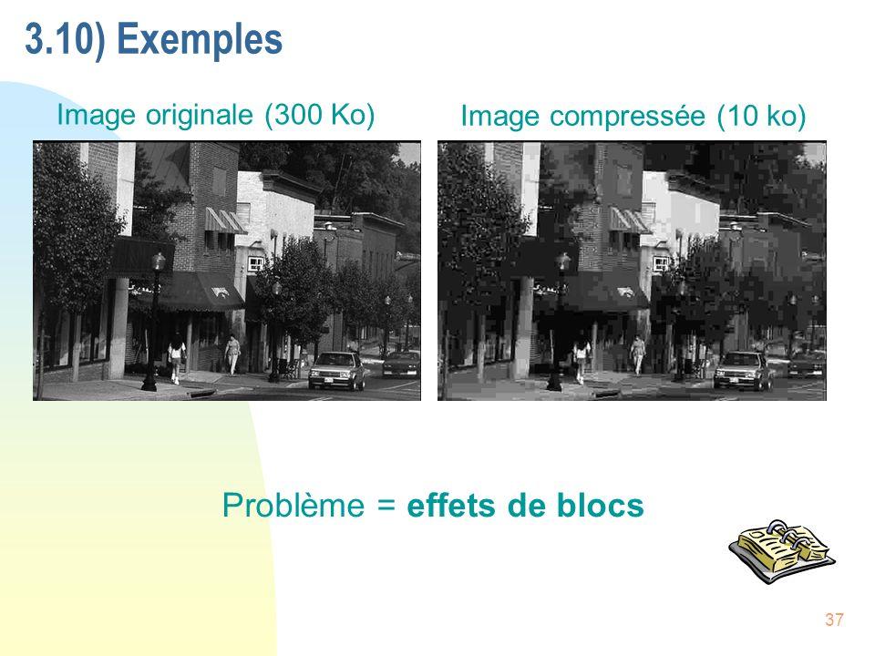 3.10) Exemples Problème = effets de blocs Image originale (300 Ko)