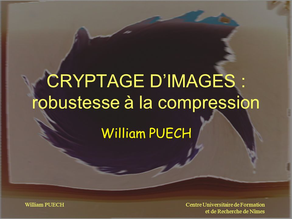 CRYPTAGE D'IMAGES : robustesse à la compression