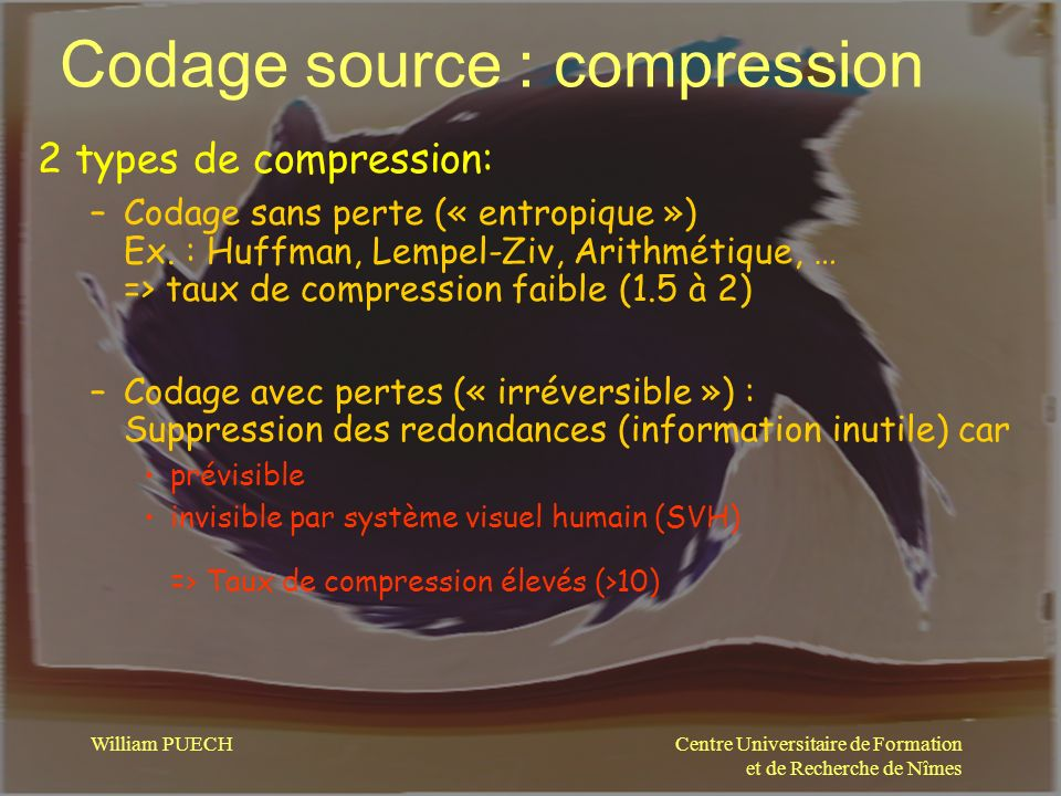 Codage source : compression
