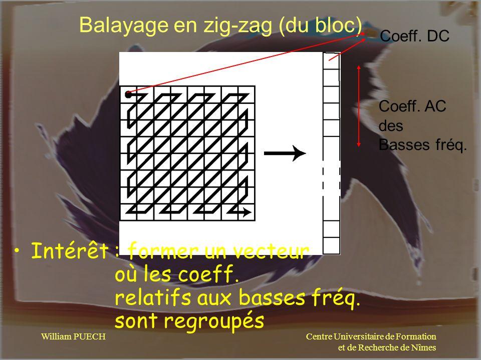 Balayage en zig-zag (du bloc)