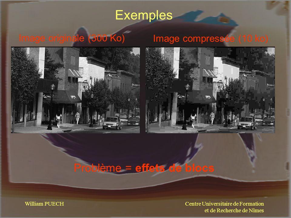 Exemples Problème = effets de blocs Image originale (300 Ko)