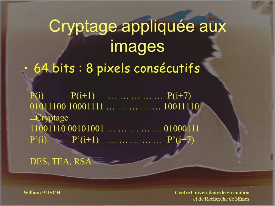 Cryptage appliquée aux images
