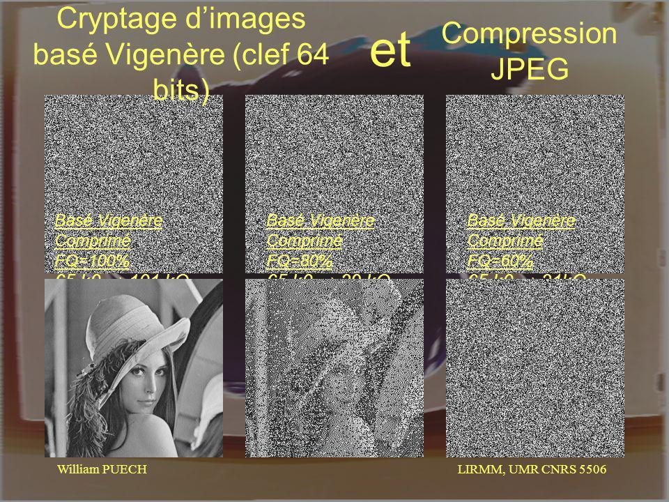 Cryptage d'images basé Vigenère (clef 64 bits)