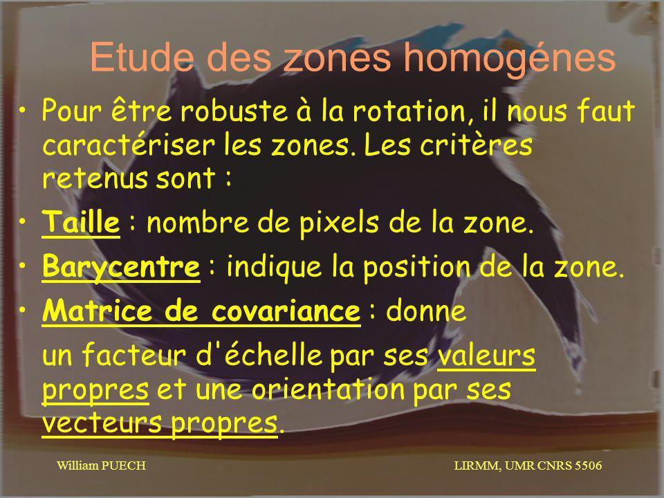 Etude des zones homogénes