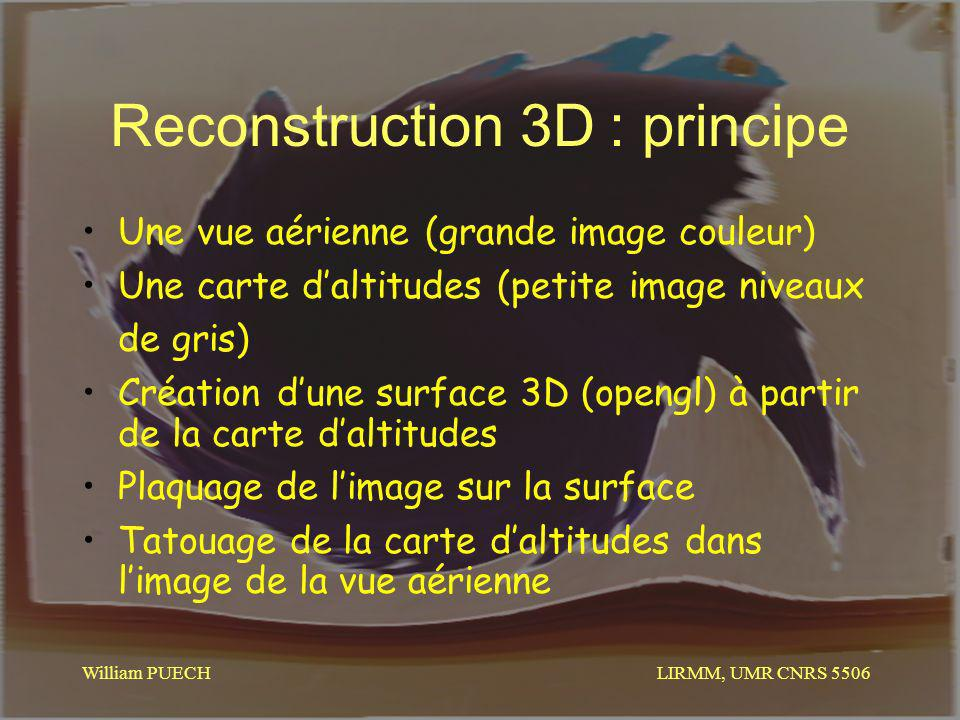 Reconstruction 3D : principe
