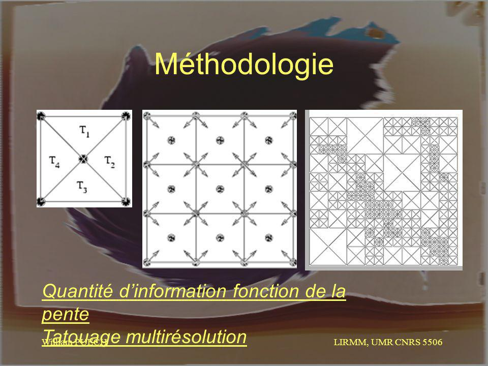 Méthodologie Quantité d'information fonction de la pente