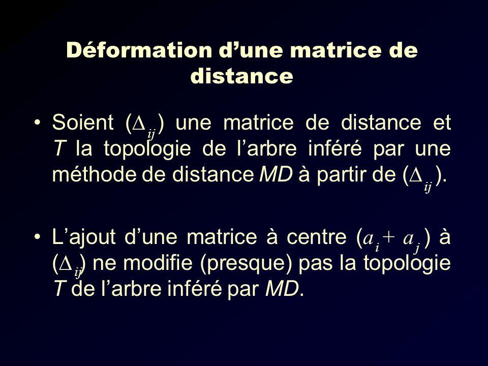 Déformation d'une matrice de distance