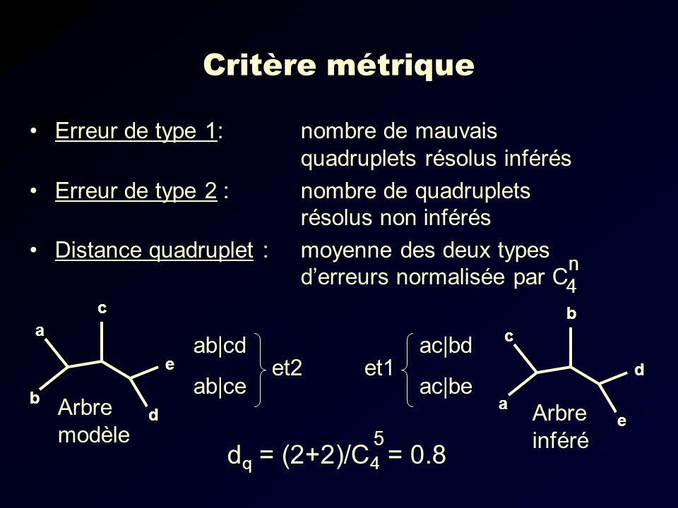 Critère métrique dq = (2+2)/C4 = 0.8