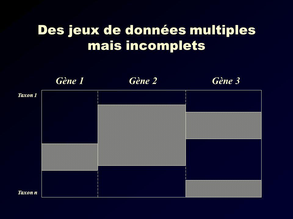 Des jeux de données multiples mais incomplets
