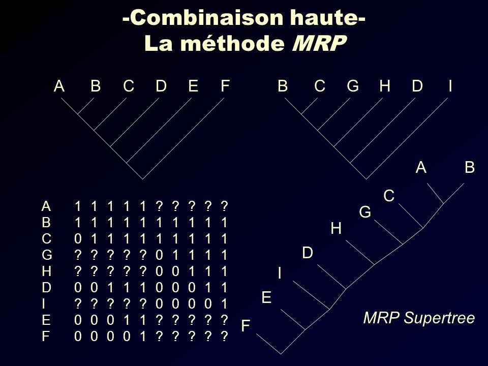 -Combinaison haute- La méthode MRP