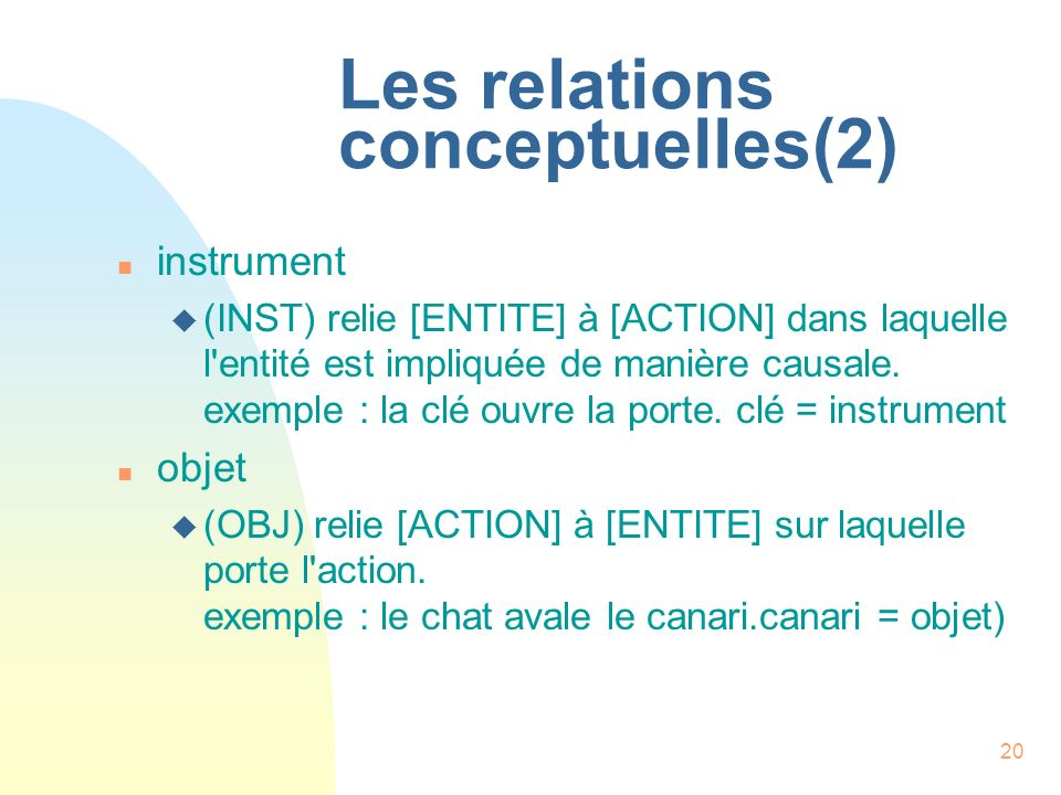 Les relations conceptuelles(2)