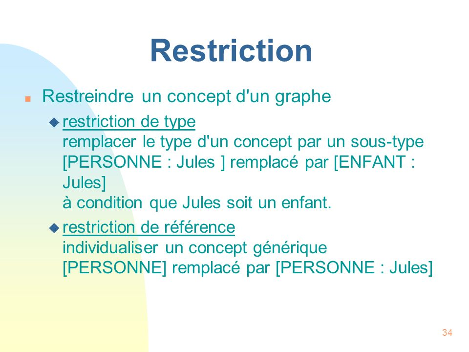 Restriction Restreindre un concept d un graphe