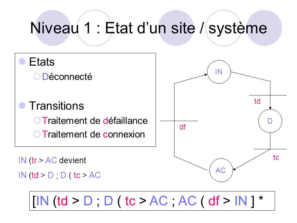 Niveau 1 : Etat d'un site / système
