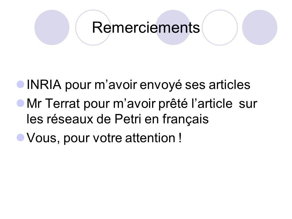 Remerciements INRIA pour m'avoir envoyé ses articles