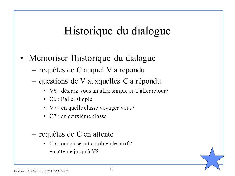Historique du dialogue