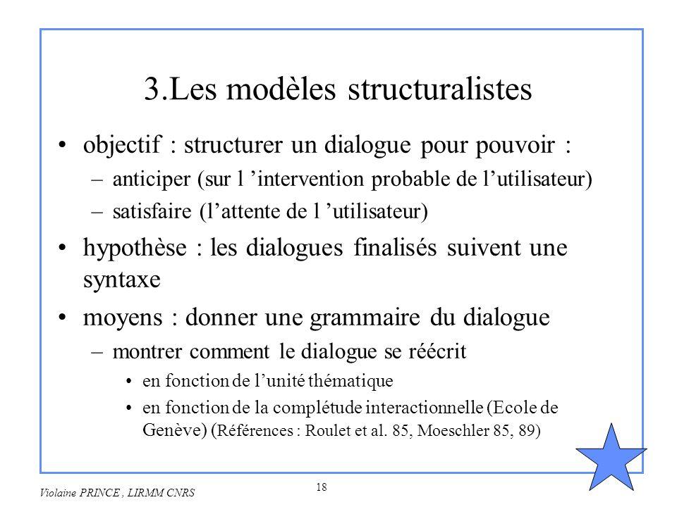 3.Les modèles structuralistes