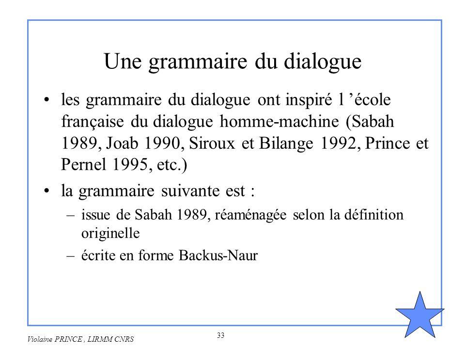 Une grammaire du dialogue