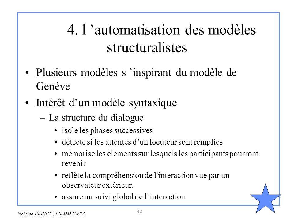 4. l 'automatisation des modèles structuralistes