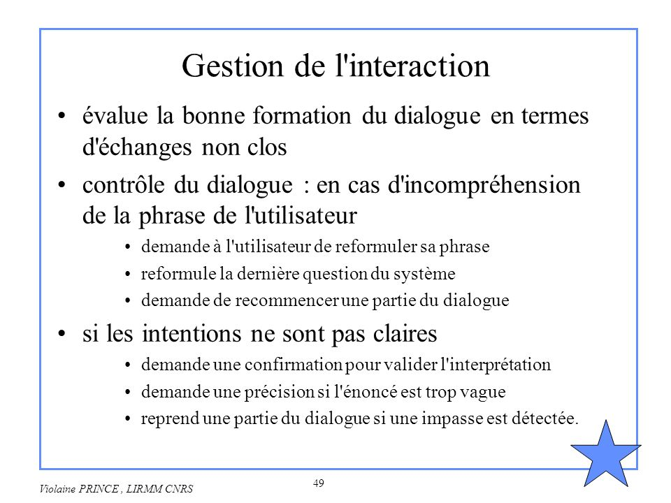 Gestion de l interaction