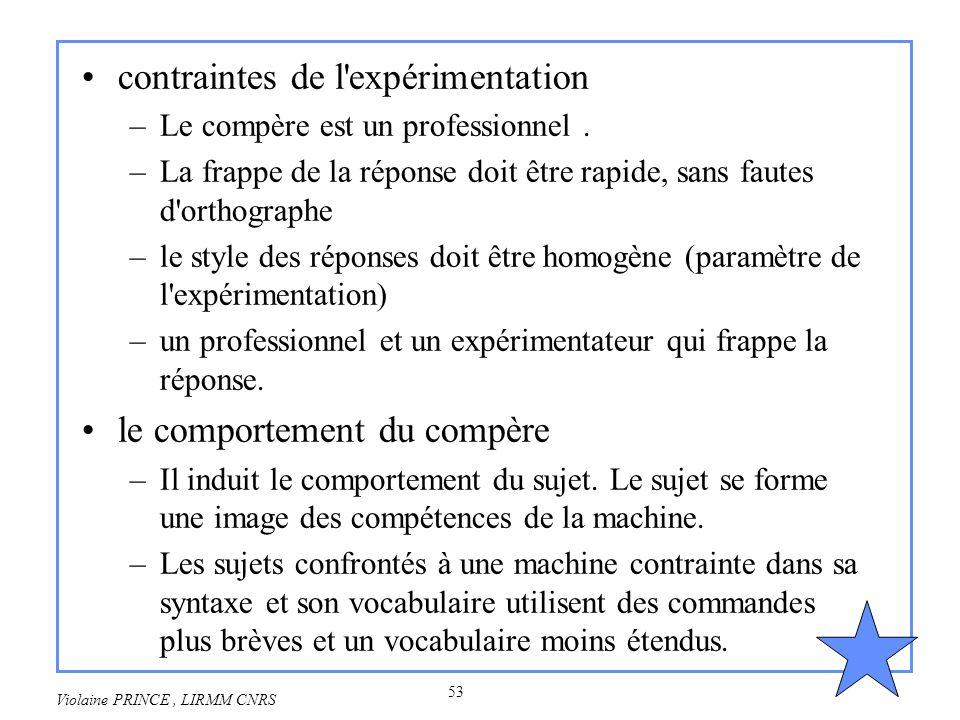 contraintes de l expérimentation