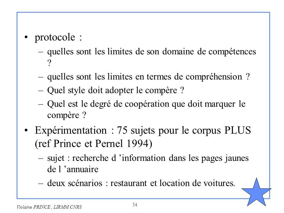 protocole : quelles sont les limites de son domaine de compétences quelles sont les limites en termes de compréhension