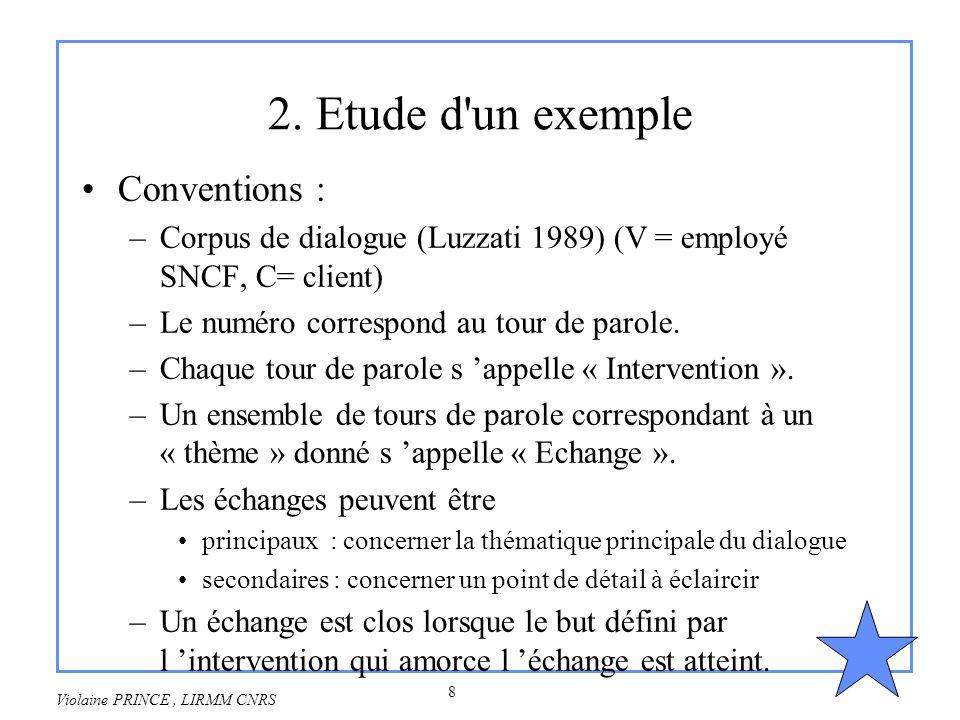 2. Etude d un exemple Conventions :