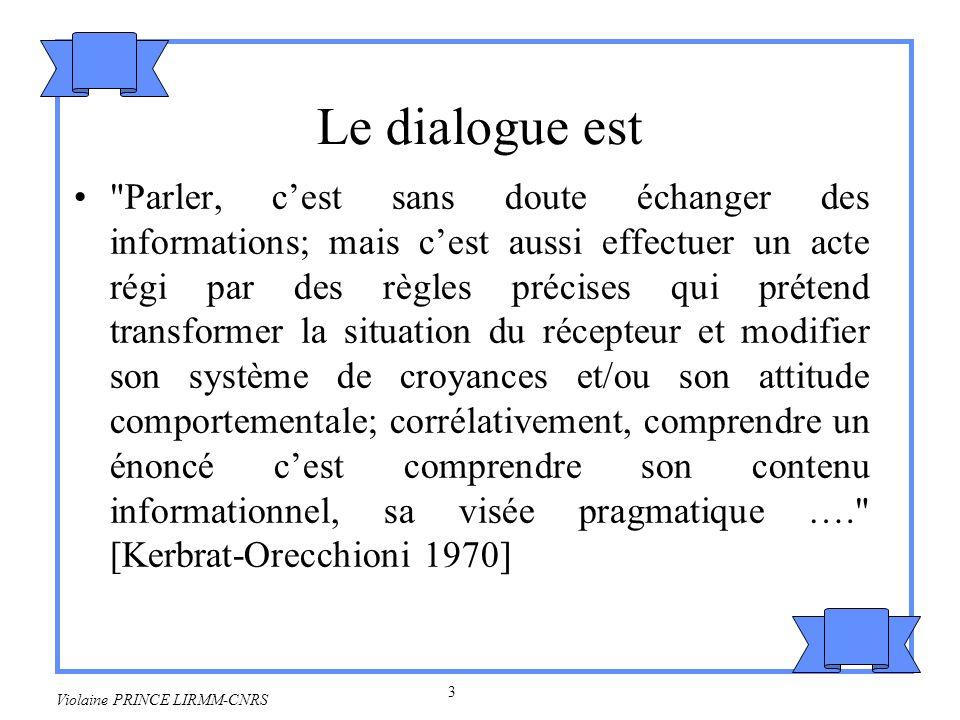 Le dialogue est