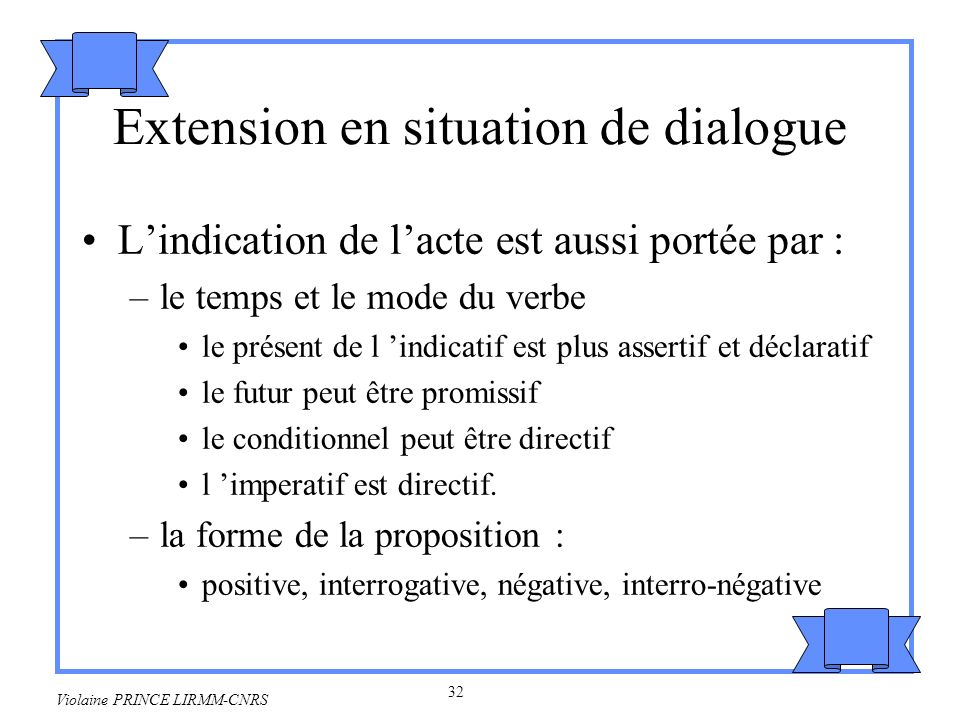 Extension en situation de dialogue