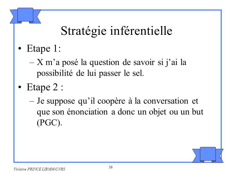 Stratégie inférentielle