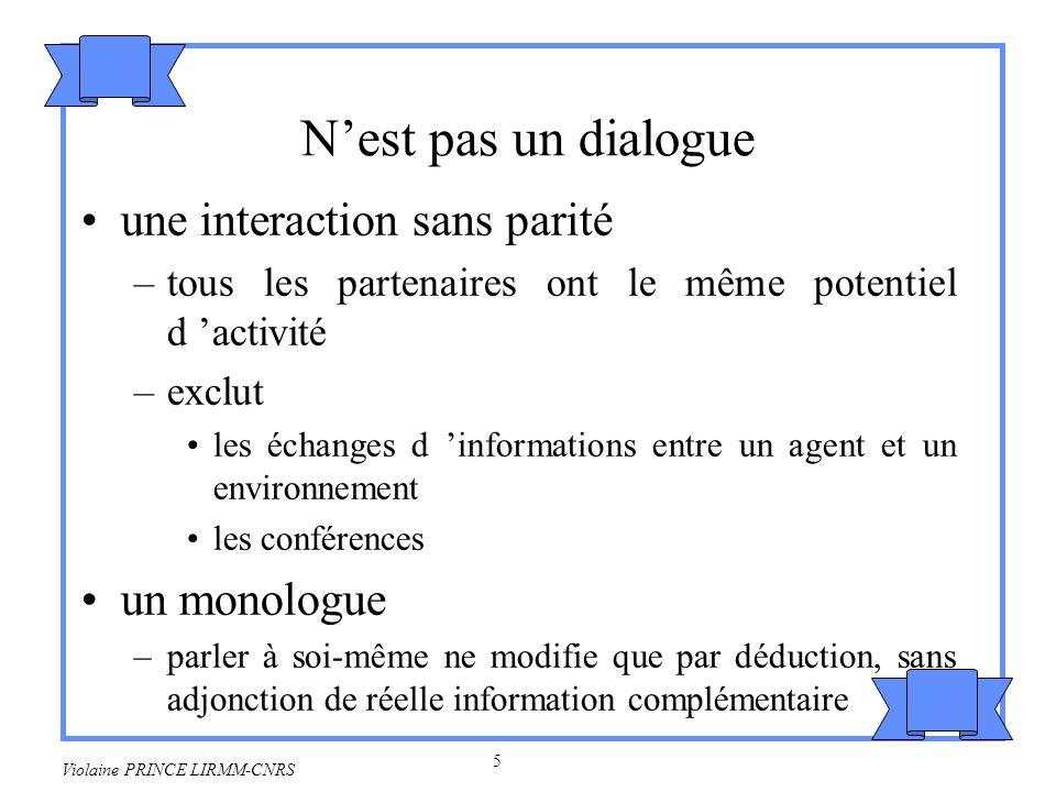 N'est pas un dialogue une interaction sans parité un monologue