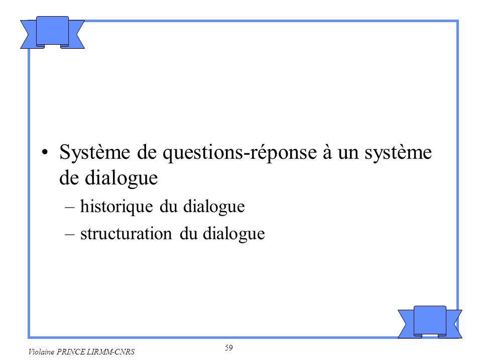 Système de questions-réponse à un système de dialogue