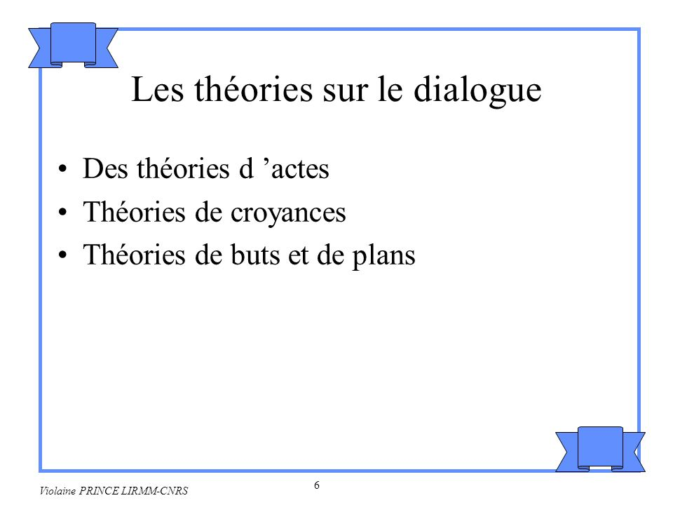 Les théories sur le dialogue