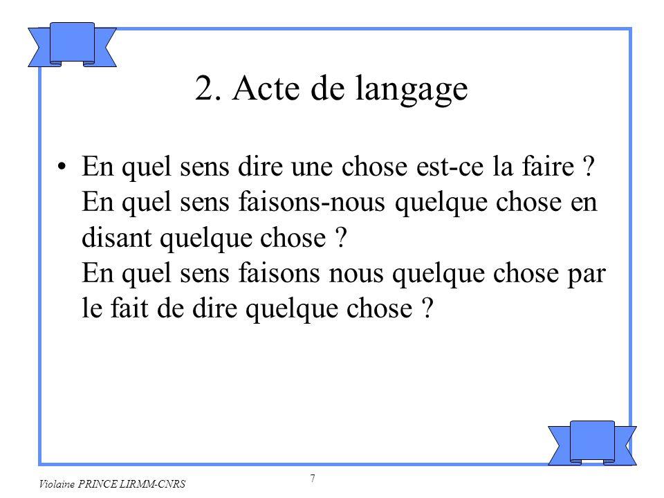 2. Acte de langage