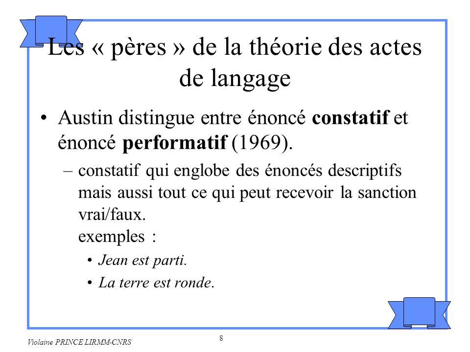 Les « pères » de la théorie des actes de langage