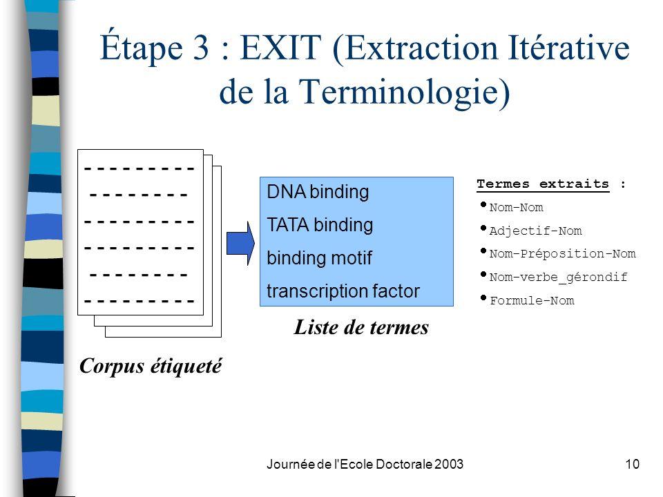 Étape 3 : EXIT (Extraction Itérative de la Terminologie)