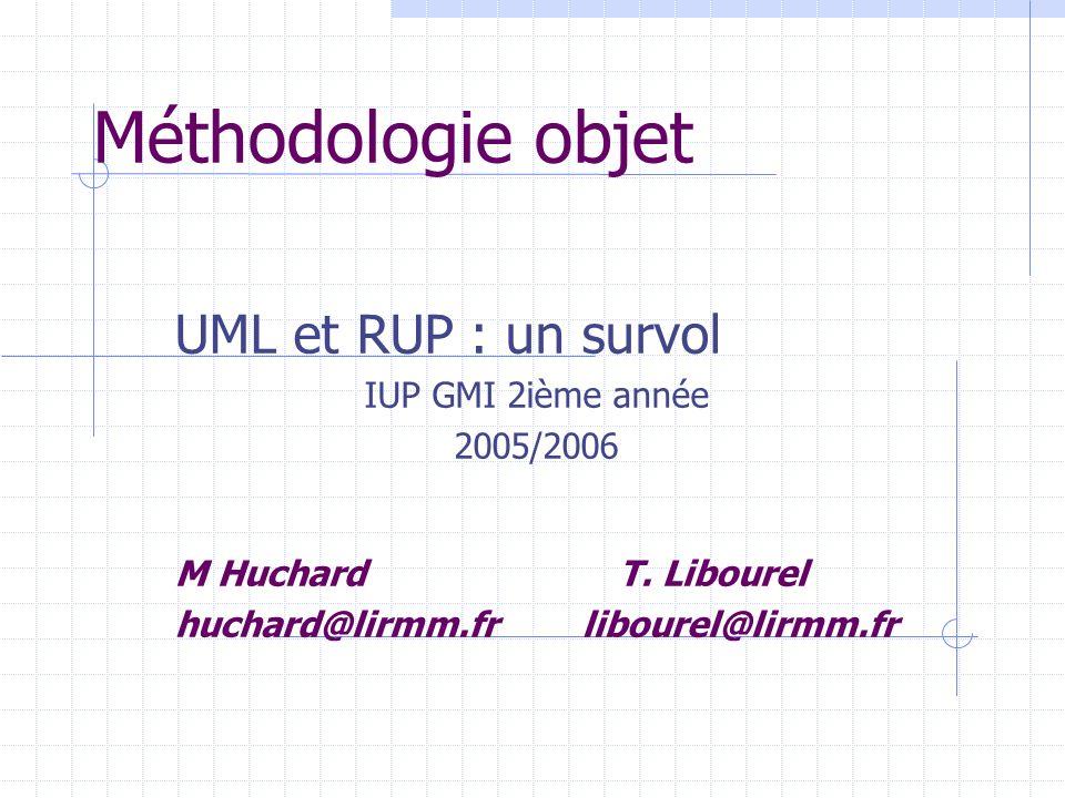 Méthodologie objet UML et RUP : un survol IUP GMI 2ième année