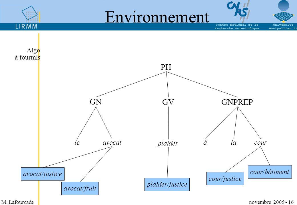 Environnement PH GN GV GNPREP le avocat plaider à la cour