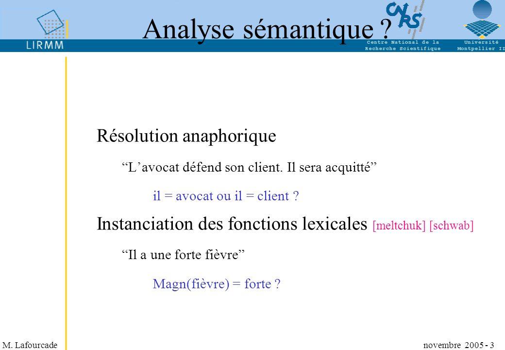 Analyse sémantique Résolution anaphorique