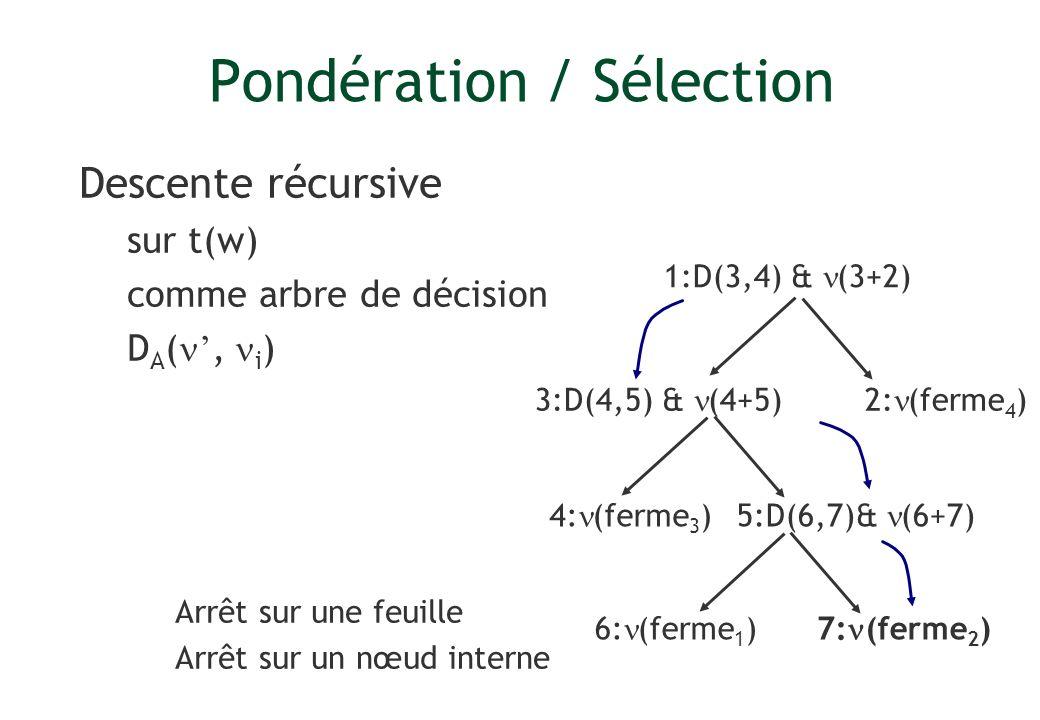 Pondération / Sélection