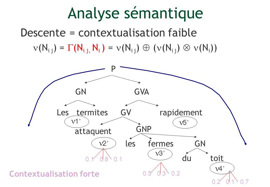 Analyse sémantique Descente = contextualisation faible