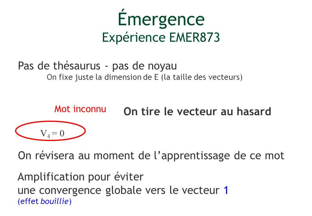 Émergence Expérience EMER873