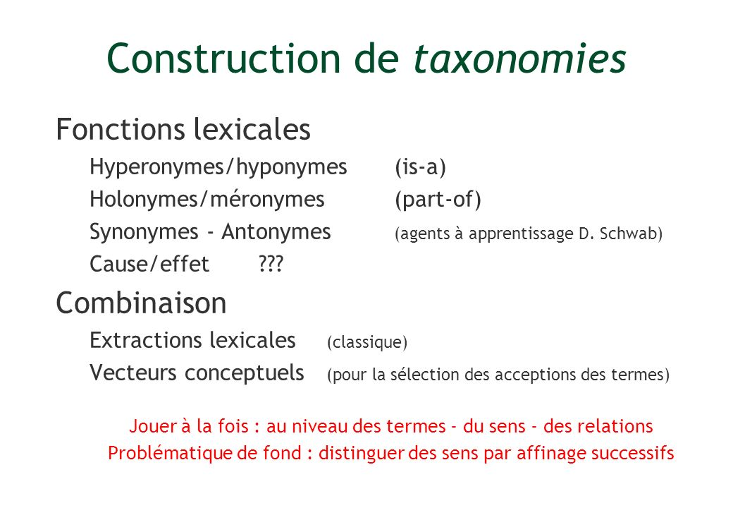 Construction de taxonomies