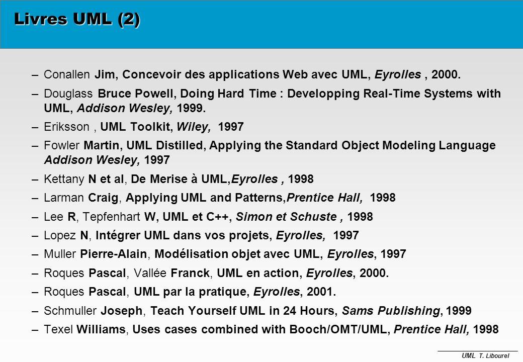 Livres UML (2) Conallen Jim, Concevoir des applications Web avec UML, Eyrolles , 2000.