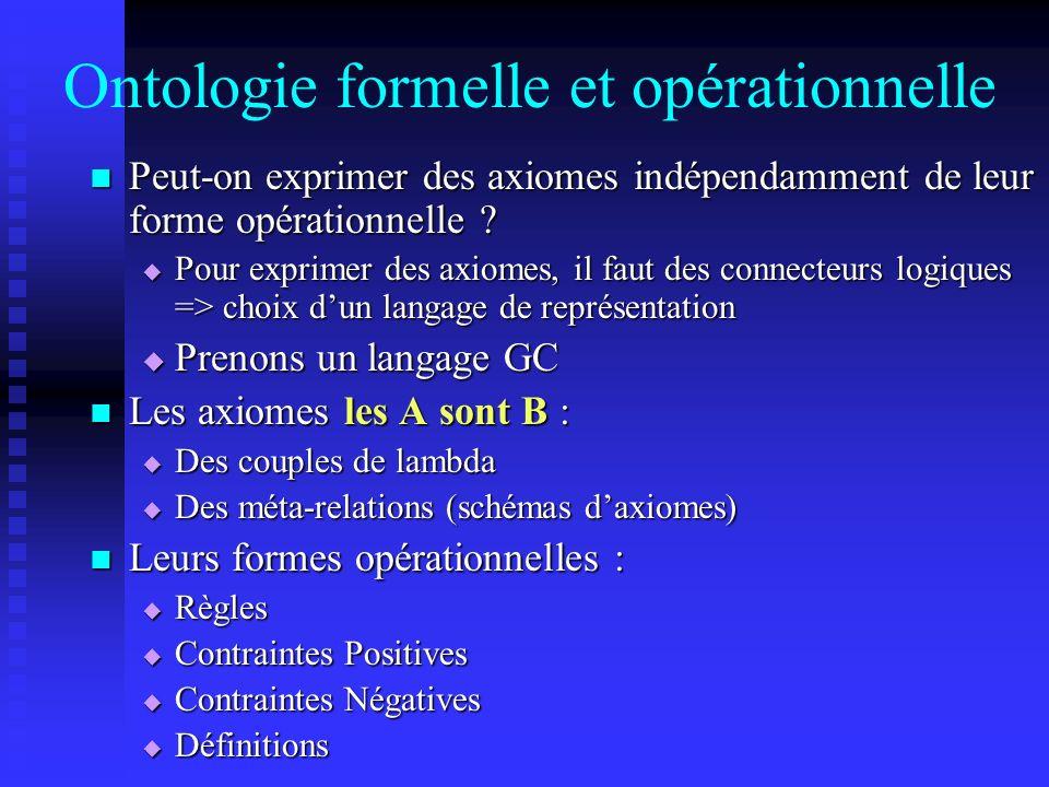 Ontologie formelle et opérationnelle