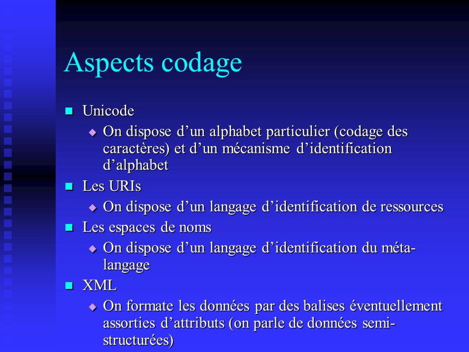 Aspects codage Unicode
