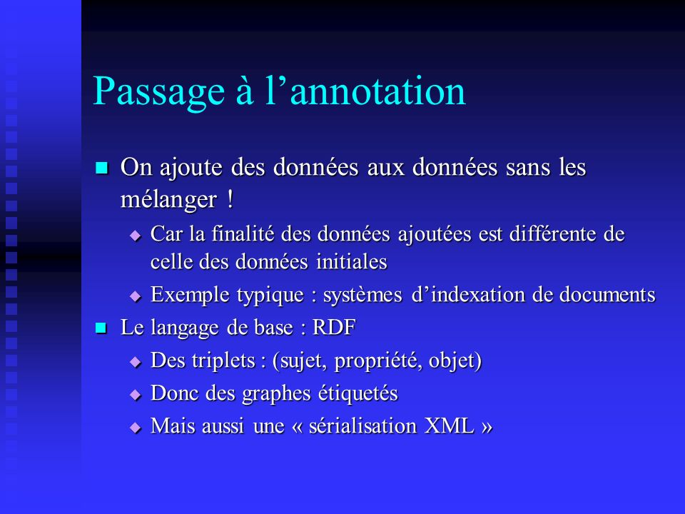 Passage à l'annotation
