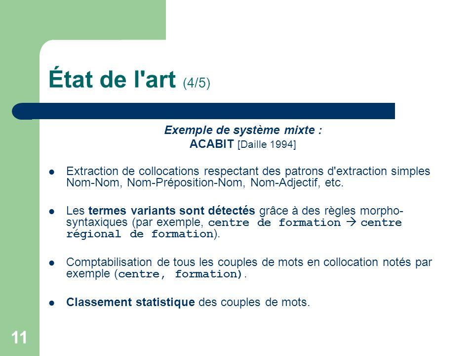 Exemple de système mixte :