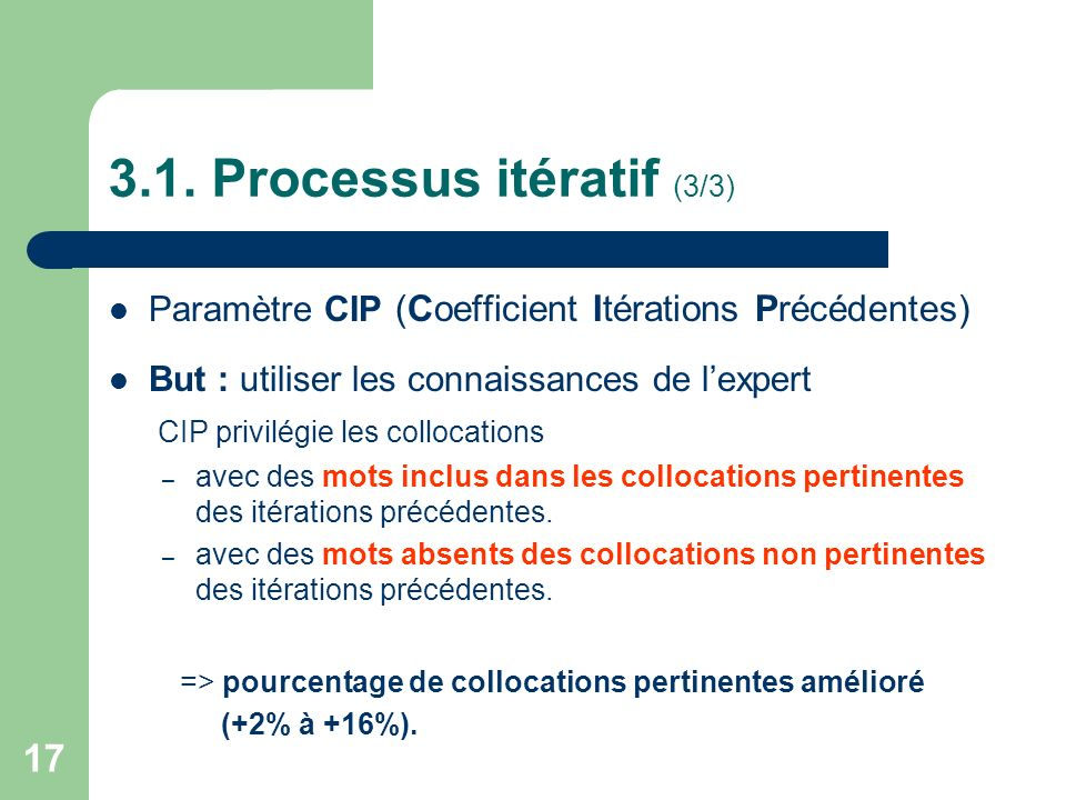 3.1. Processus itératif (3/3)