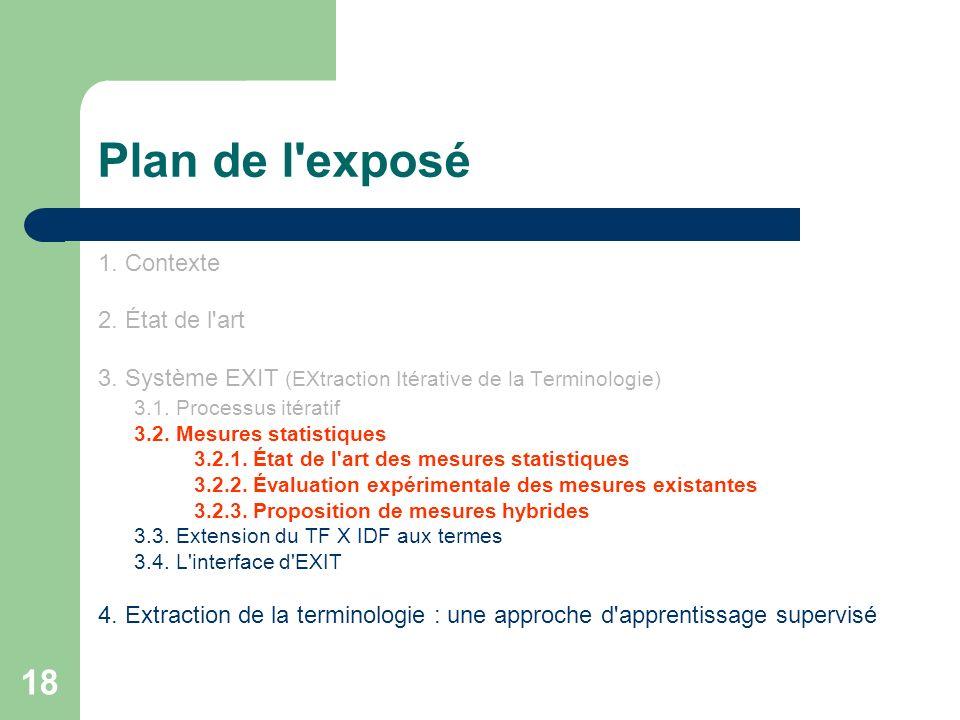 Plan de l exposé 1. Contexte 2. État de l art